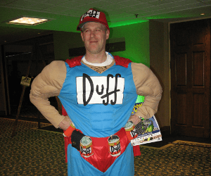 Costume de Duffman, Les Simpsons
